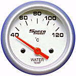 524-30 water temperature gauge. Silver dial, silver bezel. Electric 40–120 deg C.