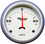 524-51 ammeter. Silver dial, silver bezel. 60–0–60 amps.