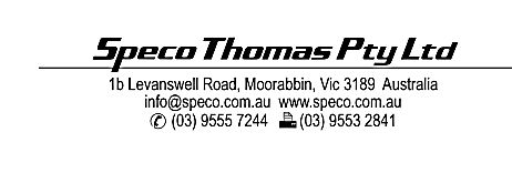 Contact details for Speco-Thomas