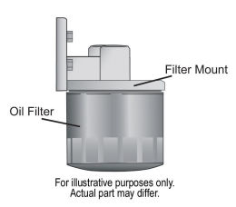 Single Remote Oil Filter Mount Horizontal Ports Illustration